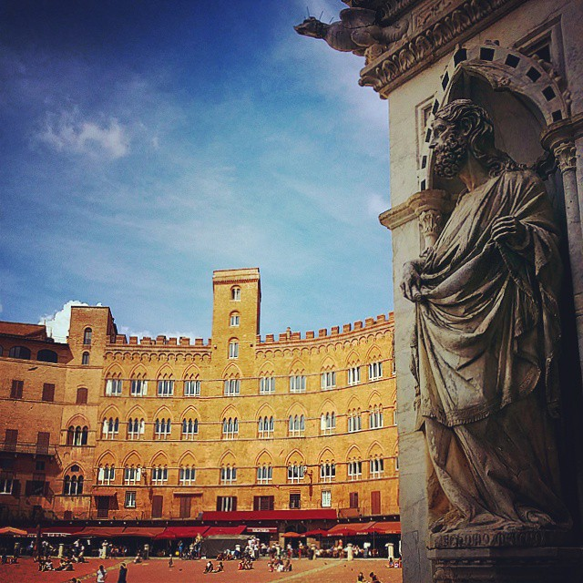 #Siena #Piazza #del #Campo #Tuscany #buildings #Square #Italy #Art